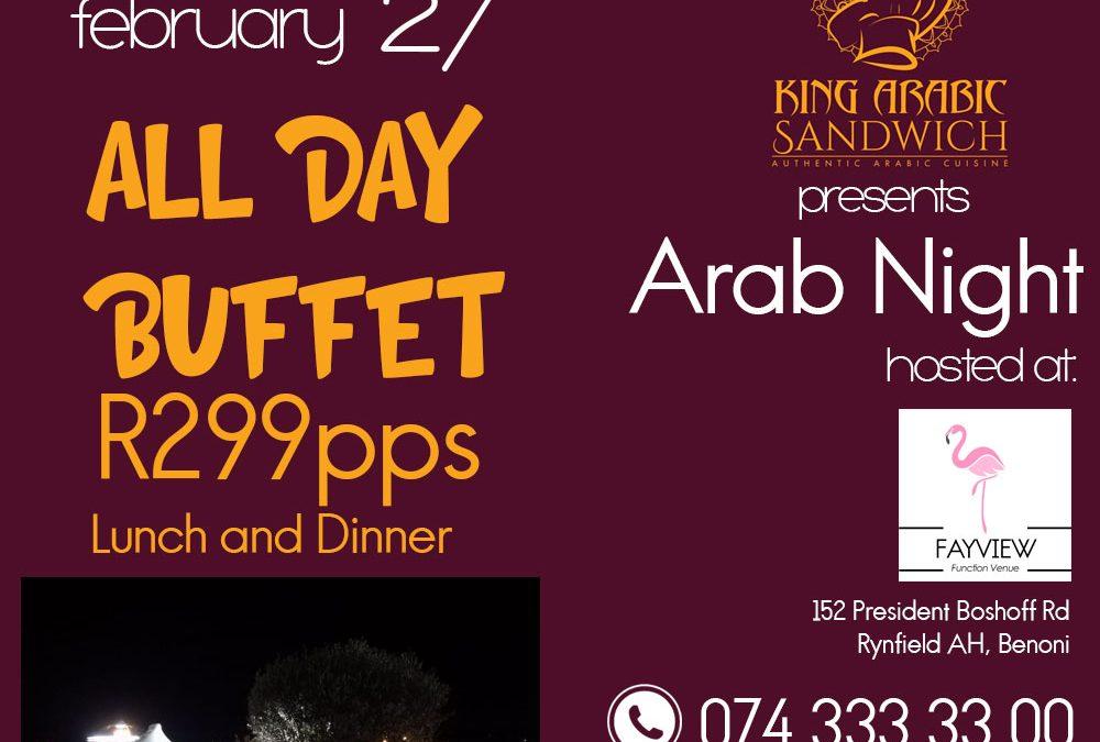 Arab Night- Saturday 27th February